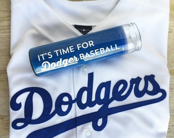 It's Time For Dodger Baseball Candle