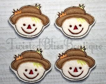 Set Of 4 Scarecrow Felties