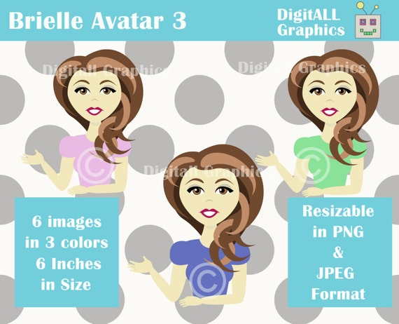 Profile Picture Character With Brown Hair And Brown Eyes Etsy