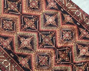 "Sylvia | 4'11""x10'2"" Vintage Handwoven Persian Rug | Living Room Rug | Bedroom Rug"