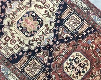 "Lacey | 4'11""x9'10"" Vintage Handwoven Persian Rug | Living Room Rug | Bedroom Rug"