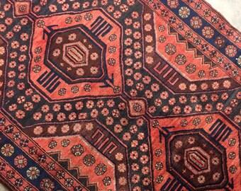 "Salina | 4'3""x9'11"" Vintage Handwoven Persian Rug | Living Room Rug | Bedroom Rug"