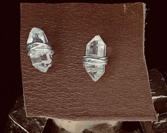 Sterling Silver Herkimer Stud Earrings