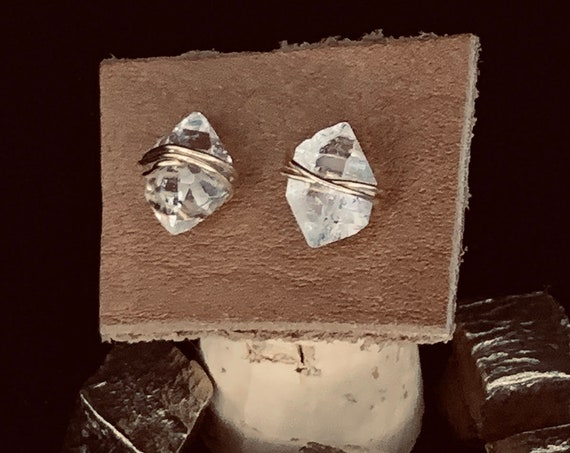 Gold Fill Herkimer Stud Earrings