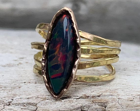 Handmade 14K Gold Fill Opal Wrap Style Ring