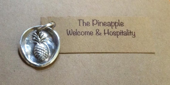 Handmade Sterling Silver Pineapple Charm