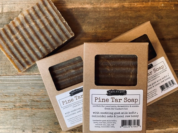 Pine Tar Soap with Raw goat milk