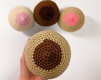 Crochet Breast Model, Boob Demonstration Model for Lactation, Antenatal Breastfeeding Model, Breast Prosthetic