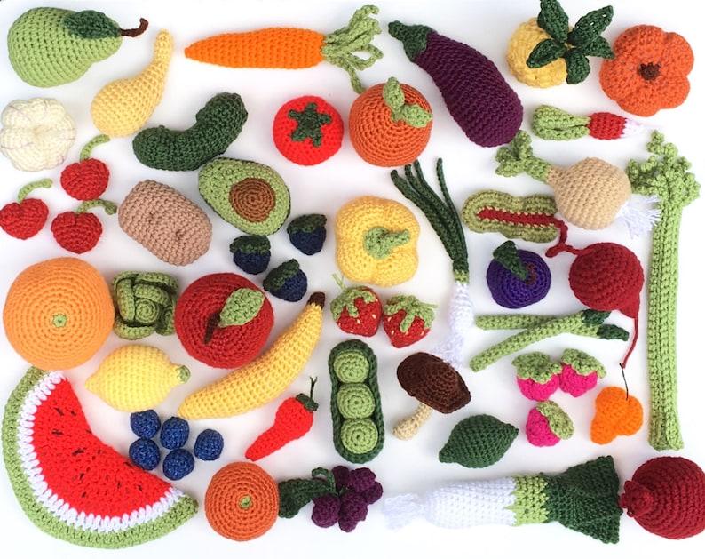Top Häkeln Obst und Gemüse spielen Spielzeug-Set Häkeln Sie | Etsy FA48