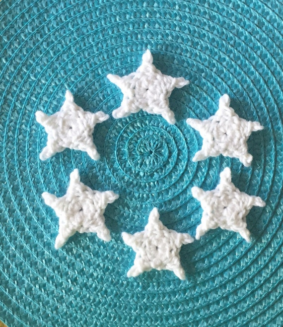 Pick Your Color 6 Small Crochet Stars Crochet Mini Stars Etsy