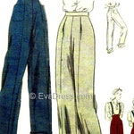1945 Wide Leg Trousers and Clam Diggers E-PATTERN by EvaDress