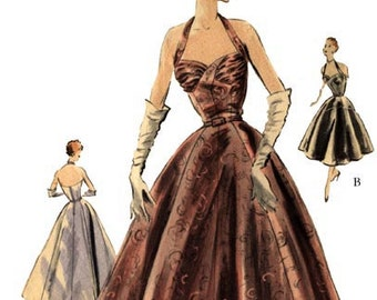 1953 Evening Gown Pattern by EvaDress