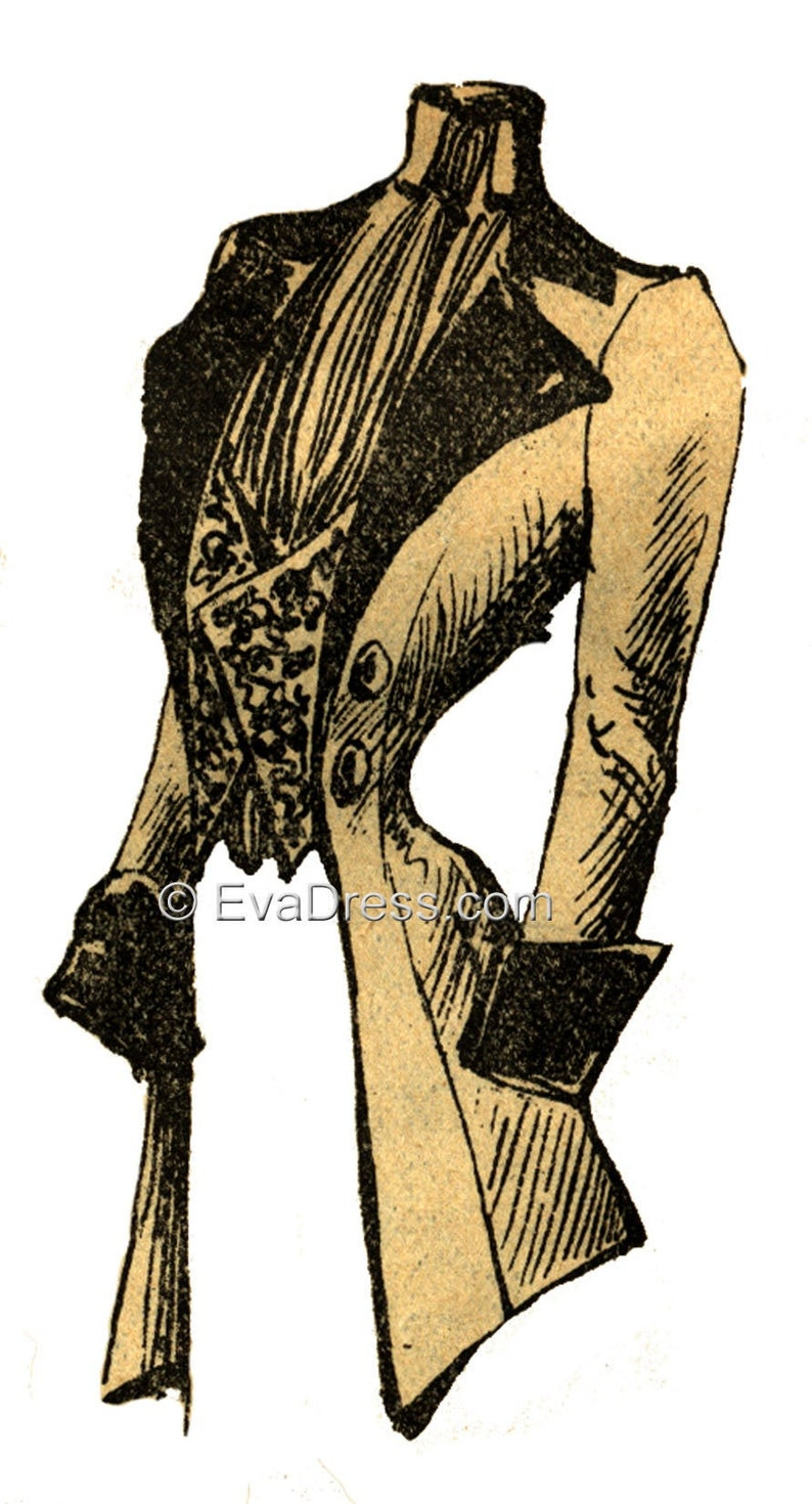 1890s-1900s Fashion, Clothing, Costumes 1901 Habit Pattern by EvaDress $15.00 AT vintagedancer.com