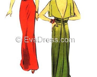 1930 Evening or Bridal Gown EvaDress Pattern