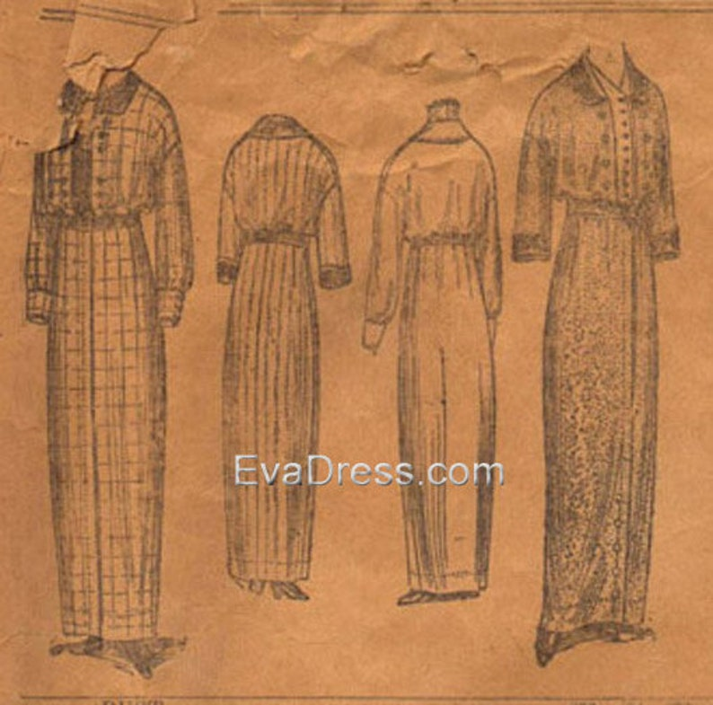 Edwardian Sewing Patterns- Dresses, Skirts, Blouses, Costumes 1912 Dresses Pattern by EvaDress $20.00 AT vintagedancer.com