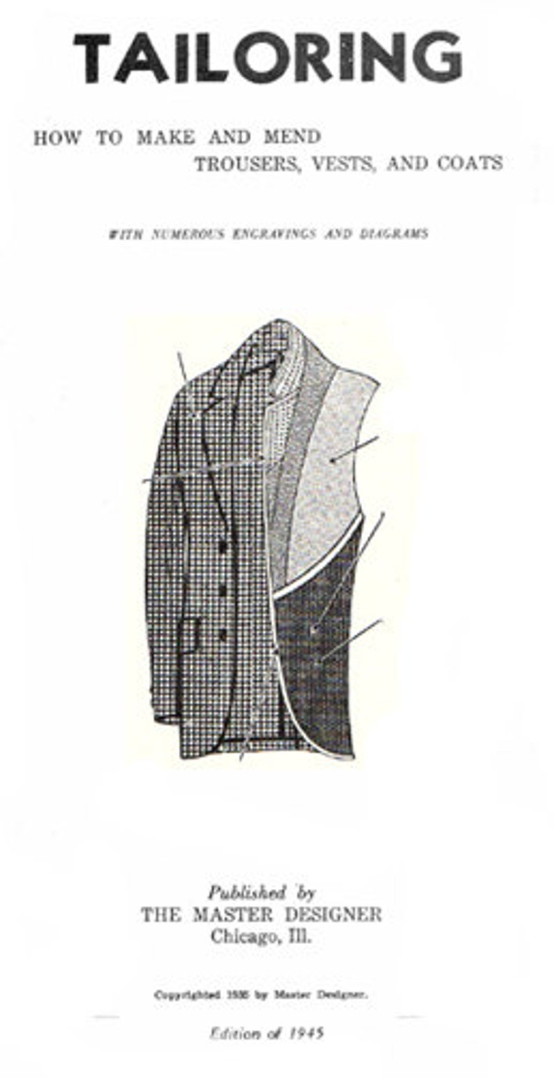 1940s Men's Clothing 1945 Master Tailoring Booklet Reproduction by EvaDress $20.00 AT vintagedancer.com