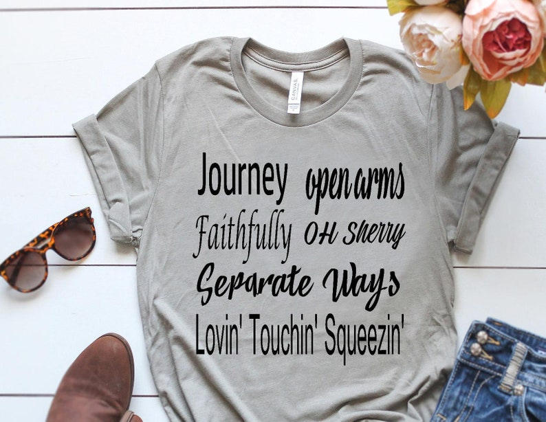 52f01844058829 Journey Songs Shirt Journey Shirts Music Inspired Shirts | Etsy