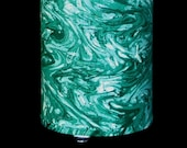 Lamp recycled green marbled fabric - table, pendant, swag, accent, nightlight