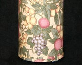 Lamp recycled fruit print fabric - table, pendant, swag, accent, nightlight