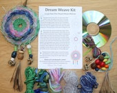 Dream Weave KIt - make your own wall art with a CD, emu feathers, yarn, beads, tassels and more! Fun family activity