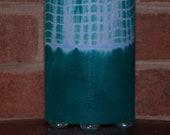 Accent Lamp - teal, blue, white, green - fair trade batik fabrik table lamp or pendant light, mood light