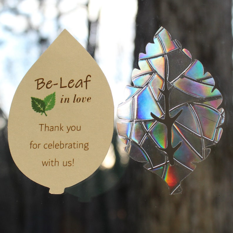 Be-Leaf in Love  24 prismatic decals for wedding favors image 0