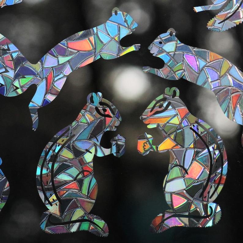 Chipmunks and Squirrels Rainbow Prism Window Decals  Set of image 0