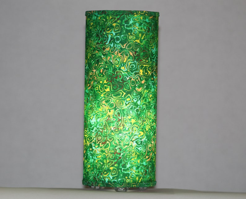 Lamp in garden marbled fabric  swag or table lamp image 0