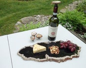 Petrified Wood Serving Platter Extra Large Size  (PW10) -  Cheese Board, Indonesian Petrified Wood