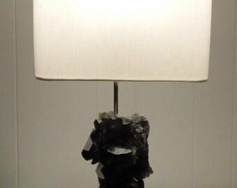 "Smoky Quartz Crystal Designer Lamp ""Marla"" -- Mineral Specimen Lamp//Crystals//Gemstones//Geodes"