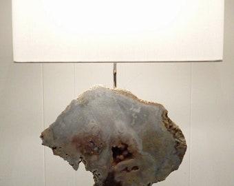 "Rose Amethyst Quartz Crystal Designer Lamp ""Rose"" -- Crystals//Gemstones//Minerals//Geodes"