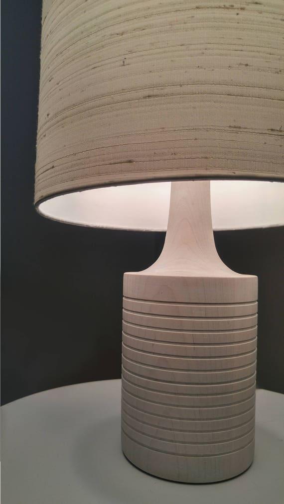 White Table Lamp White Lamp Modern Table Lamp Bedside Etsy