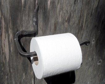 Toilet Paper Holder - Hand Forged - Rustic Bathroom Decor - Iron TP Holder - Bathroom Fixture - Bathroom Accessories - Toilet Tissue Holder