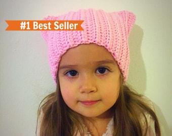80ece4e98a9 Pink pussycat hat