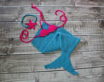 Mermaid costume, mermaid outfit, baby shower gift, mermaid tail set, baby mermaid tail, baby mermaid costume, baby gift