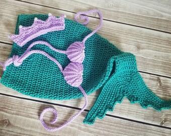 Mermaid tail, baby mermaid costume, newborn mermaid tail, mermaid photo prop, baby mermaid tail, first birthday outfit, mermaid birthday