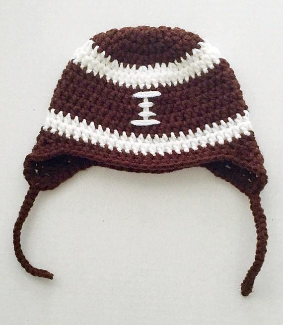 45fbd3406f2 Football hat baby football hat handmade baby hat newborn