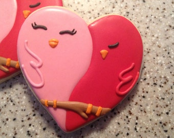 Love Bird Valentine Cookies