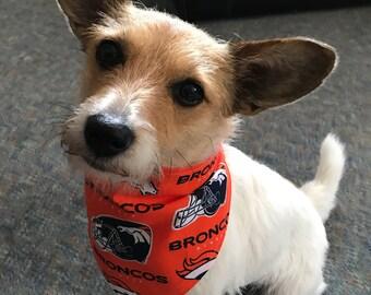 Denver Broncos Orange Dog Bandana 1736c7df5