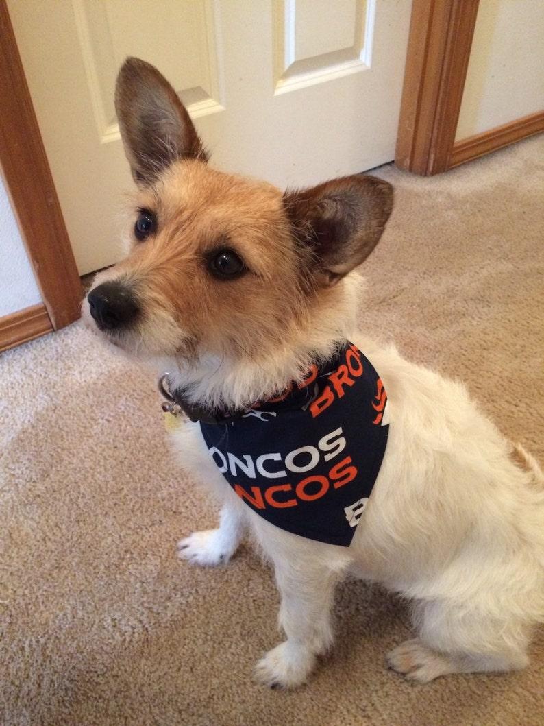 cheap for discount ca249 7bab0 Denver Broncos Dog Bandana.