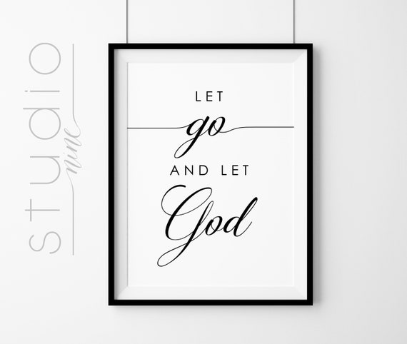 Let Go And Let God Wall Art Printable Inspirational Art Etsy