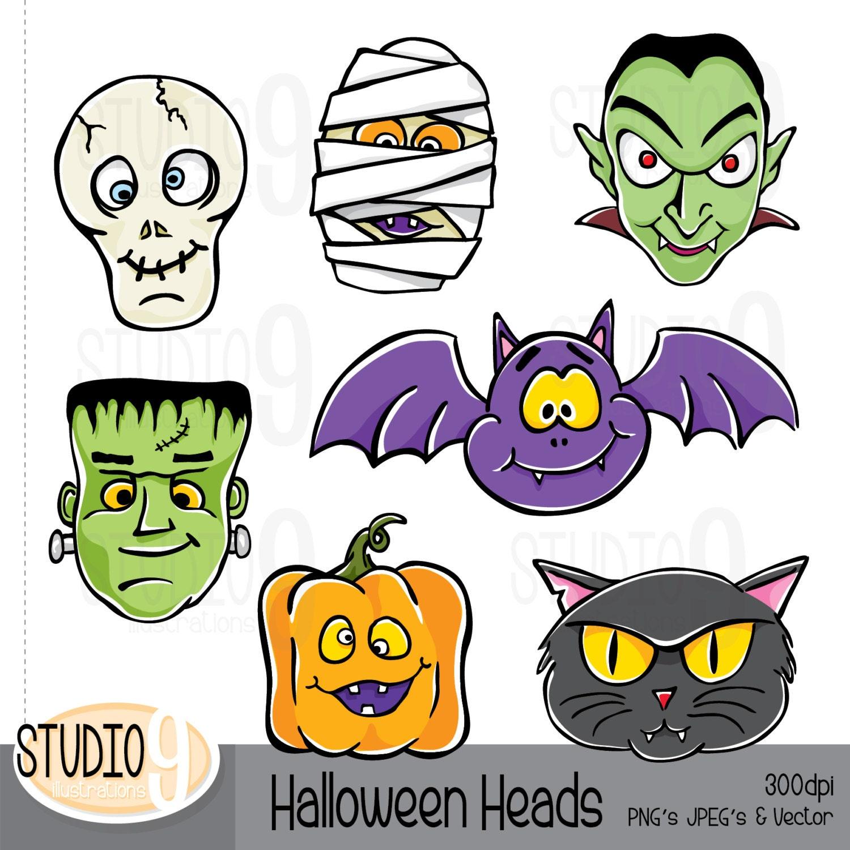 HALLOWEEN Clipart: MONSTER Clip Art Halloween Download | Etsy