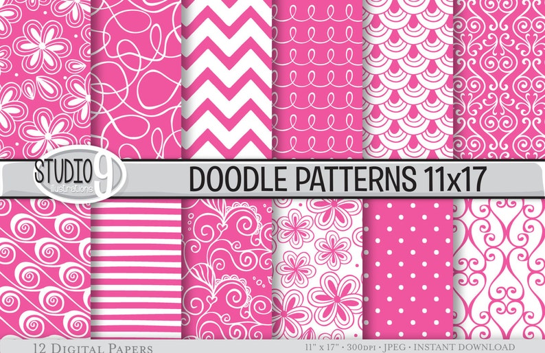 photo about Printable Pattern Paper named Red Electronic Paper: DOODLE Practices Printable Practice Print, Purple Obtain, 11 x 17 Crimson Styles Backgrounds Sbook