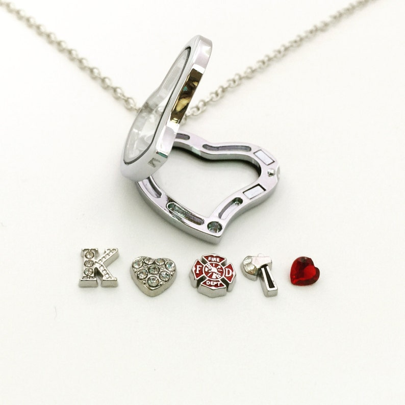 Firefighter Necklace Gift For Wife Girlfriend Lariat Style