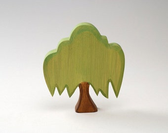 Forest Wood Wood Green Tree Wooden Tree Wooden Waldorf Toy Natural Summer Landscape Toy Tree Waldof Tree Toy Eco Friendly