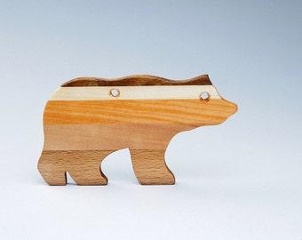 Gift Of Wood - Wooden Toys - Wooden Bear - Bear Ornament - Wooden Gift - Wooden Silhouette - Handmade - Gift For Christmas - Christmas Bear