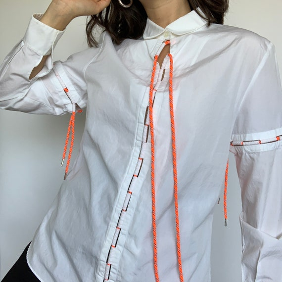 Vintage Y2K Kenzo Blouse W/Detachable Ties Size