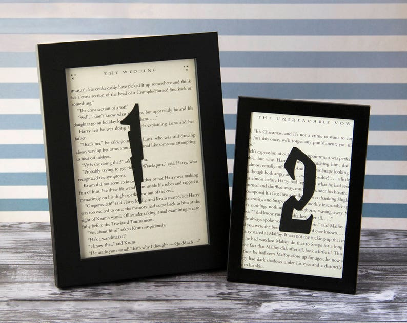 da4dc65e14a6 Harry Potter Wedding Table Numbers Bridal Shower Party Decor