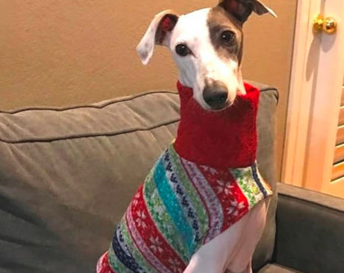 "Whippet Sweater. ""Ugly Christmas Sweater"". Southern Living magazine. Whippet Sizes"