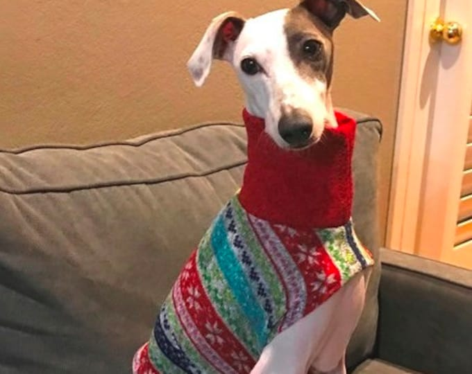 "Whippet Sweater. ""Ugly Christmas Sweater"" - Whippet Sizes"
